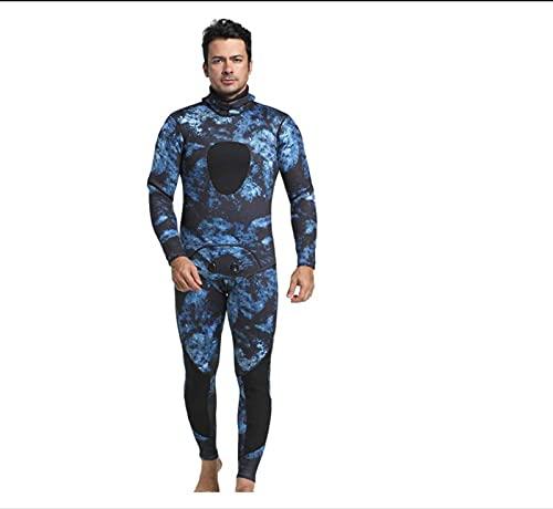 KUANDARGG Neoprenos de Buceo, Traje Neopreno Hombre Mujer, Ultra elástico de 3 mm Neopreno Traje Surf, Traje de Buceo Completo para Hombres y Mujeres, esnórquel, Buceo, Sea Blue, S