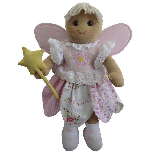 Diseño de hada con muñeca de trapo 19 cm