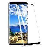 [2 Pack] Amonke Protector de Pantalla para Samsung Galaxy S8 Plus Cristal Templado, 3D Curvado Completa Cobertura, 9H Dureza Alta Definicion Vidrio Templado Screen Protector para Samsung S8 Plus