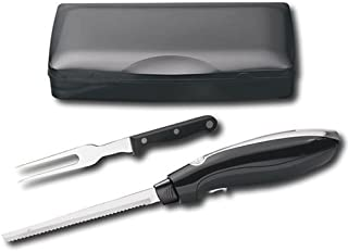 Hamilton Beach Electric Knife, with Stainless Steel Blade, and Ergonomically Designed Handle for Easy Grip, with a Sturdy Neat Case, BONUS FREE Carving Fork Included
