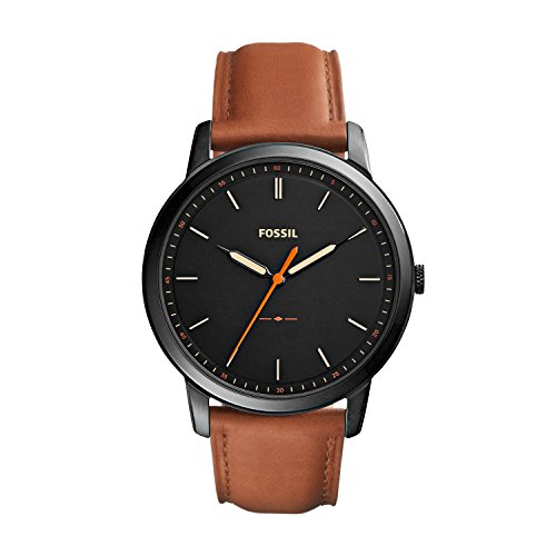 Fossil Men's The Minimalist Quartz Stainless Steel and Leather...