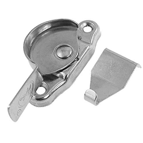 X-DREE Ventana Sasfety Silver Tone Metal giratorio Hardware