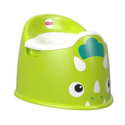 Fisher-Price FTV11 - Dino-Töpfchen, Toilettentrainer mit integriertem Spritzschutz für Kleinkinder, grün
