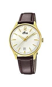 Lotus Watches Reloj Análogo clásico para Hombre de Cuarzo con Correa en Cuero 18403/1