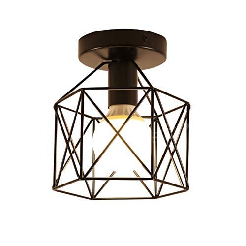 Plafondlamp, industrieel, Nordic, landhuis, gang, antiek, balkon, plafondlamp, werkkamer, restaurant, café, hanglamp, E27 * 1