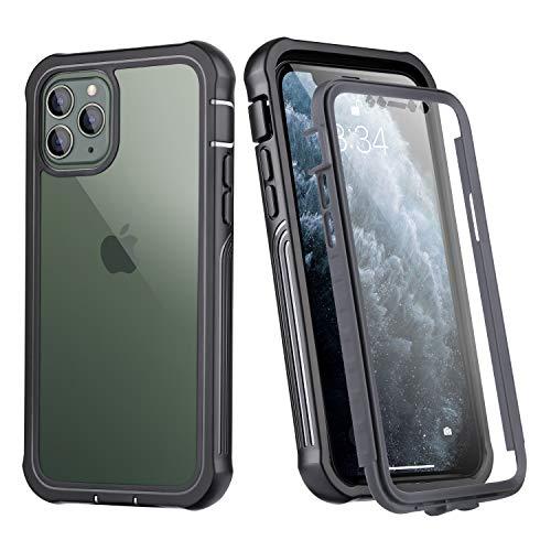 AFARER Funda para teléfono móvil compatible con iPhone 6 Plus/7 Plus/8 Plus, protector de pantalla integrado, cuerpo entero delgado de 360 grados, doble blindaje de alto rendimiento transparente
