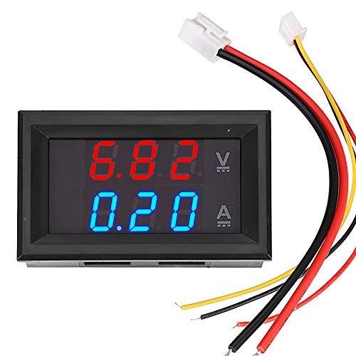 DC 100 V 10 A LED Display Volt Amperemeter Mini Digital Voltmeter Amperemeter Spannungsanzeige Tester mit Kabel Voltmeter Strommesser Blau Rot Dual