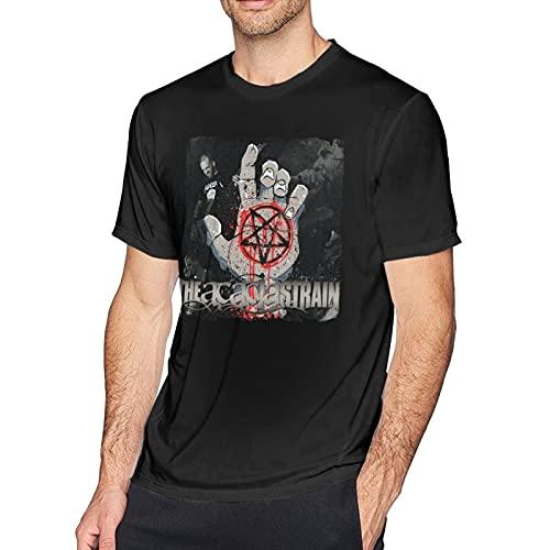 Men's American Metalcore Band The Acacia Music Theme Strain T Shirts Crewneck Short Sleeve T-Shirt, Lightweight Cotton Tee Top Shirt for Mens, Classic Fit Custom Apparel Medium Black