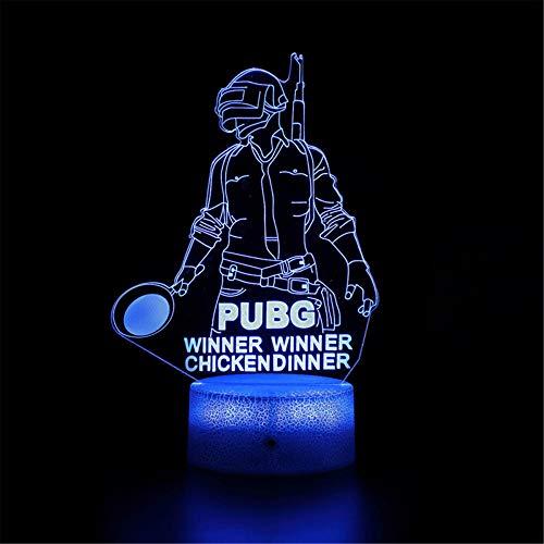 3D-Nachtlicht, LED, optische Illusion, Lampe, Battle Royale Spiel, PUBG Sieger, Schreibtischlampen, Kinderzimmer, Dekoration, beste Festivals, Geburtstagsgeschenke für Kleinkinder, Jungen und Kinder