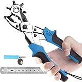 MTSJYG - Perforadora de piel para cinturones, correas de reloj, collares, sillas, zapatos, tela, proyectos de bricolaje en casa o manualidades (azul)