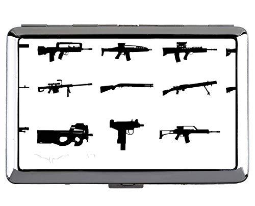 Zigarette Hard Box und Halter, Pistole Gewehr Revolver Schusswaffe Professionelle Business Card