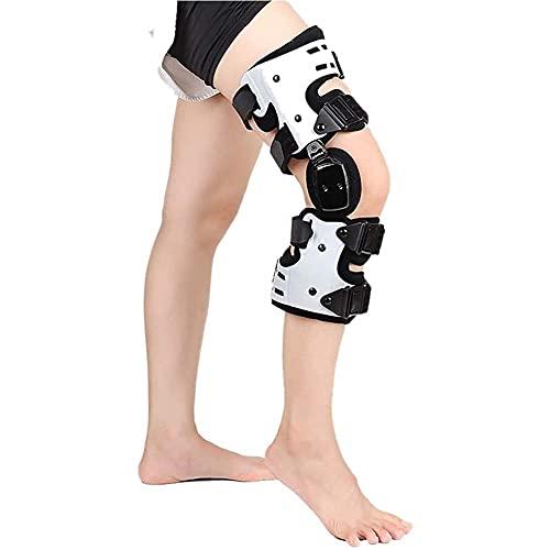 Rodillera ROM con bisagras, soporte de ortesis de rodilla, estabilizador de articulaciones, soporte de rodilla para lesiones de ACL, PCL, MCL o LCL, ayuda a estabilizar la rodilla, tamaño universal de