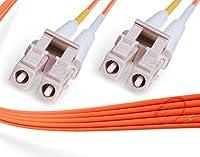 FiberCablesDirect -15M OM1 LC LC ファイバーパッチケーブル インドア/アウトドア 1GB デュプレックス 62.5/125 LC - LC マルチモードジャンパー 15メートル (52フィート)   長さオプション:0.5M-300M   1/10g sfp 1gbase mm ofnr ブラック lc-lc