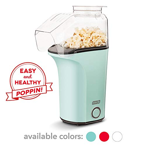 Best Prices! DASH DAPP150V2AQ04 Hot Air Popcorn Popper Maker with Measuring Cup to Portion Popping C...
