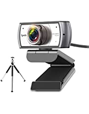 Spedal Webcam met Statief, 120 Graden Groothoek Webcam, Live Streaming Webcam 1080P, Computer Laptop Camera voor Xbox OBS XSplit Skype Facebook, Compatibel voor Mac OS Windows 10/8/7
