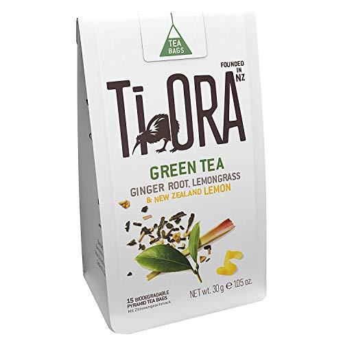 Ti Ora Te Verde con jengibre, hierba de limón y limón de Nueva Zelanda  Pack 4x15 bolsitas Biodegradables