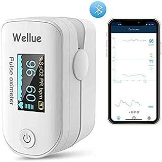 ViATOM Schlafmonitor für des Blutes, Fingerspitze Tragbares Gerät,Herzfrequenzmonitor und Sp-O2-Werte,APP Bluetooth