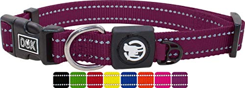 DDOXX Hundehalsband Nylon, reflektierend, verstellbar | für kleine & große Hunde | Halsband Hund Katze Welpe | Hunde-Halsbänder groß breit | Katzen-Halsband Welpen-Halsband klein | Lila Violett, S