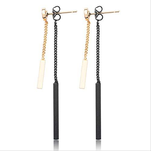 Oorbel bengelen Punk vrouwen sieraden Charms metalen staaf kwastjes Oor sieraden oorbellen Vintage gouden lange hanger Earring kettinggoud