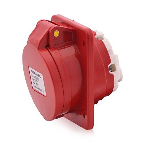 Toma de corriente CEE toma trifásica recta 16A 400V 6h IP44 5 polos (3P+N+E): IEC-60309 Enchufe industrial y multifásico calidad industrial robusta