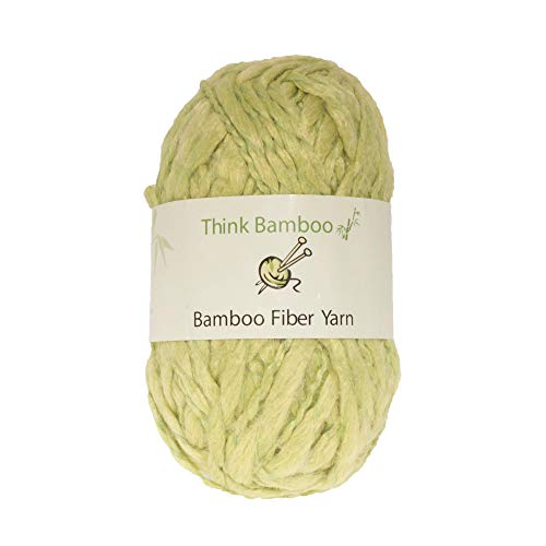 BambooMN Brand - Lime Ice Thick Thin Bamboo Fiber Wool Yarn - 100g/Skein - 2 Skeins