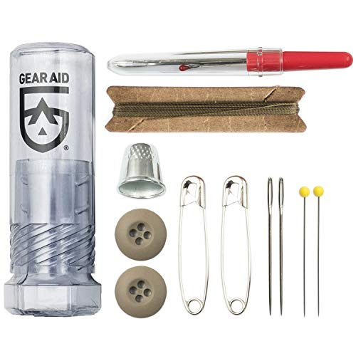 Gear Aid Outdoor Sewing Kit for Gear Repairs with Needles, Safety Pins, Buttons and Seam Ripper