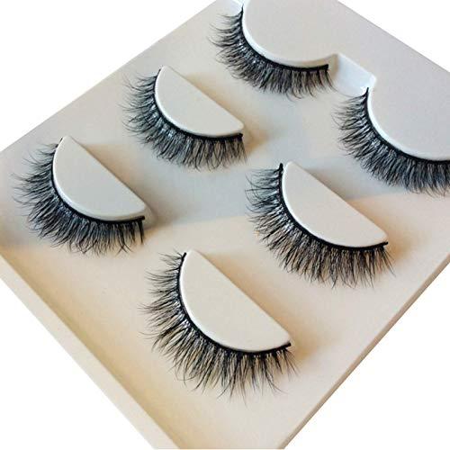 Faux cils CAIXAI 5 Paires De Faits à La Main 3D Look Dramatique Cils Légers pour Extension De Cils De Maquillage
