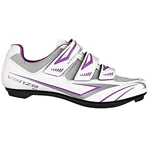 Venzo MX Bike Bicycle Women's Ladies Cycling Riding Shoes - Compatible with Peloton Shimano SPD & Look ARC Delta - Perfect for Indoor Spin Road Racing Indoor Exercise Bikes Size 40