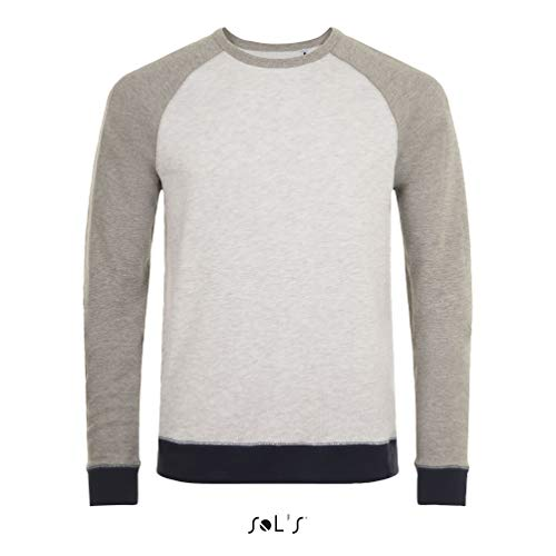 Sols - Unisex Sweatshirt 'Sandro' / Ash Heather/Grey Melange, S