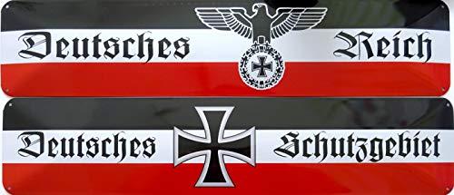 vielesguenstig-2013 Schild Blechschild Strassenschild 2er Set Deutsches Reich + Deutsches Schutzgebiet