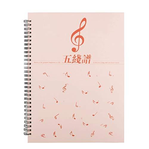 HJHJ Cuadernos 1-5 Paquete Blanco de la Hoja del Piano de música...