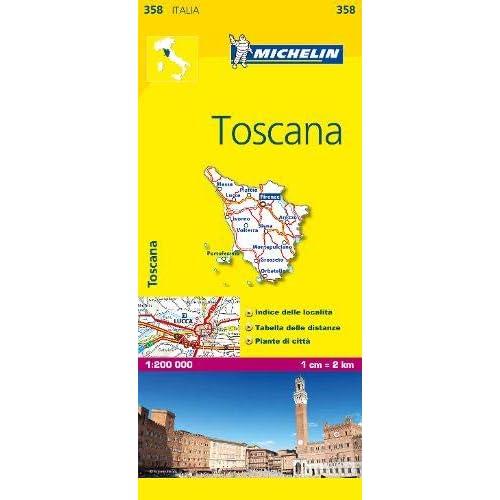 Mapa Local Italia Toscana Mapas Local Michelin Amazon Es