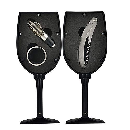 CCTT Korkenzieher Weinflaschenöffner, Weinzubehör-Sets mit Flaschenöffner, Tropfstop-Kragen, Weinausgießer, 3 Stück Edelstahl-Korkenzieher
