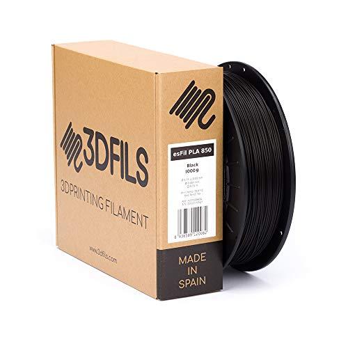 3DFILS - Filamento PLA para Stampa 3D esFil PLA Ingeo 3D850: 1.75 mm, 1 Kg, Negro