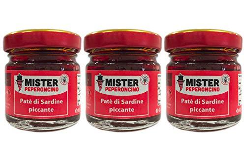 Paté di sardine (30gr x 3) - Con peperoncino - Mister Peperoncino