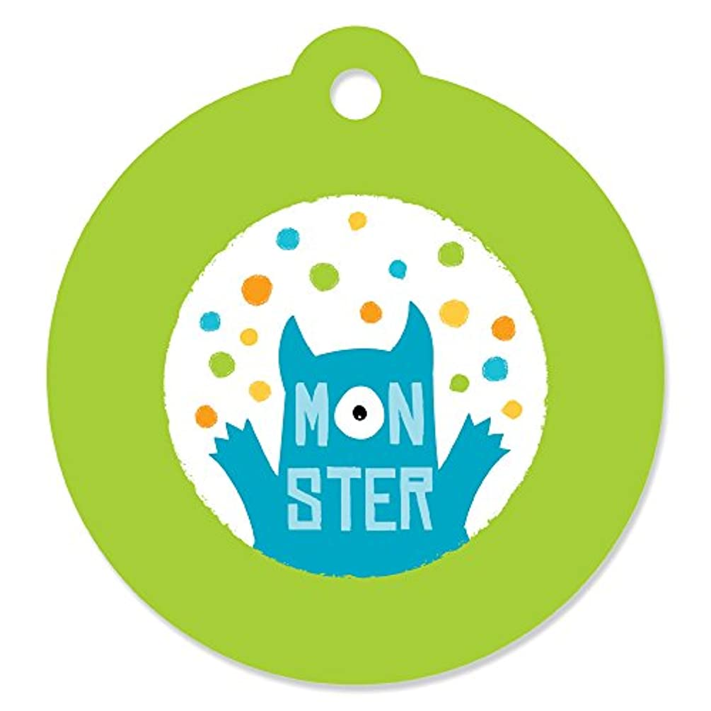 Monster Bash - Little Monster Birthday Party or Baby Shower Favor Gift Tags (Set of 20)