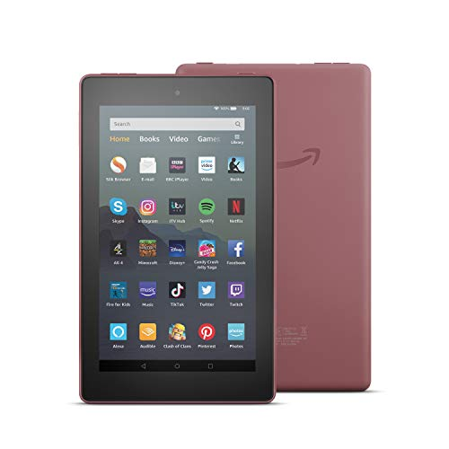 Fire 7 Tablet | 7' display, 16 GB, Plum with Special Offers