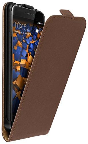 mumbi Tasche Flip Case kompatibel mit Huawei P8 Lite 2017 Hülle Handytasche Case Wallet, braun