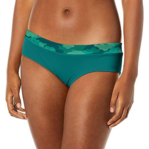 COCO RAVE Women's Standard Boy Short Bikini Bottom Swimsuit, Precious Cargo Summer Jade, Medium