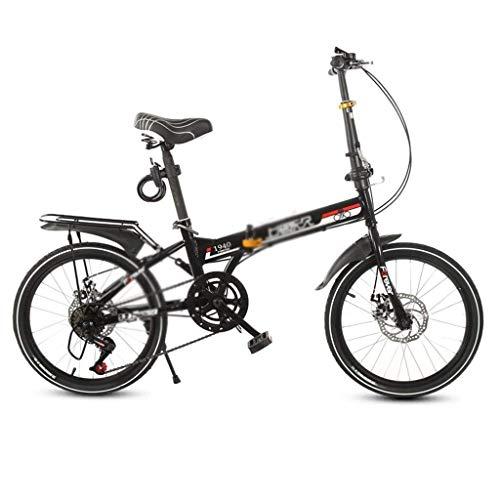 YJTGZ Fahrräder Erwachsene Klapprad Urban Freizeit Fahrrad Kohlenstoffstahl 20 Zoll Junge Mädchen Ultra Light Geschwindigkeit Fahrrad (Color : Weiß, Size : 20inch)