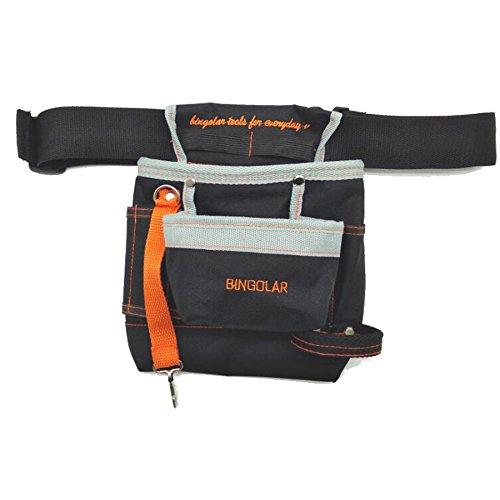 Bingolar Werkzeugtasche mit Gürtel für manuelle Elektriker Werkzeug Tasche mit verstellbarem Hüftgurt, Ziptop Utility Pouch Tool Organizer Elektro-Werkzeuge Hart und Verschleißfest Oxford Tuch