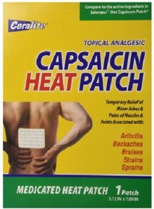 Bulk Case of 6 Capsaicin Hot Patch by Coralite (6)