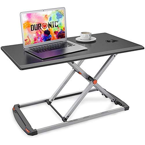 Duronic DM05D11 Podnośnik praca siedząca - stojąca | uchwyt na monitor i klawiaturę | biurko do pracy na stojąco | podnośnik do komputera | stacja robocza | podstawka