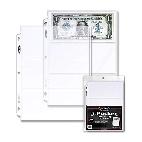 """BCW Pro 3-Pocket Currency Pages 