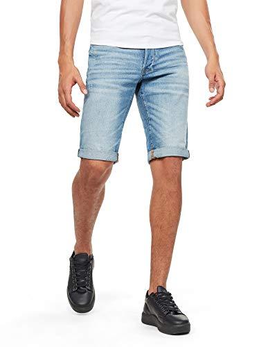 G-STAR RAW 3301 Tapered Shorts, Blau (lt Aged 8973-424), 40 (Talla del Fabricante: 38) para Hombre