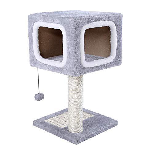 Axiba Speltorens Bomen voor Katten Huisdier kat klimmen frame dubbele deur tegen muur kat vangen Board kat Nest Cat Platform Kitty Observatory 31cm* 31cm * 57cm