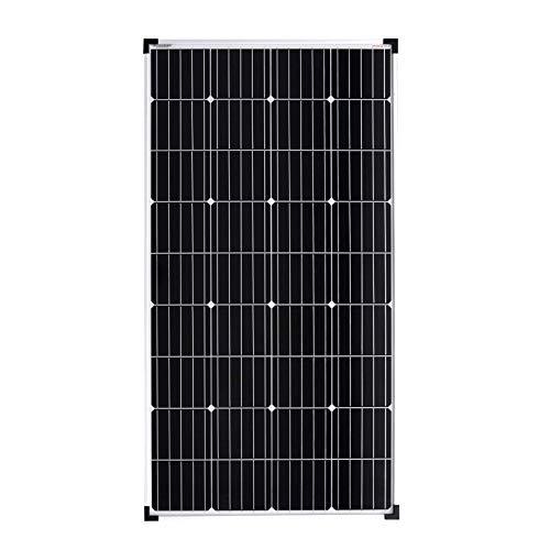 enjoy solar®Mono Panel 150W 12V solar monocristalino, ideal para caravanas, casas con jardín,...