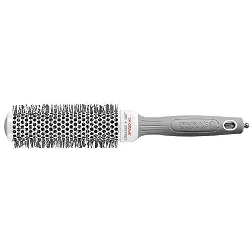 Olivia Garden Rund-Haar-Bürste Ceramic + Ion Speed XL 35/50 mm, langer Bürstenkörper für kürzere Föhnzeiten, antistatische Rundbürste (Ionen Haarbürste ) zum Föhnen und Glätten mittellanger Haare