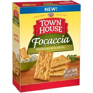 Town House Focaccia Crackers Rosemary & Olive Oil (2 Boxes) by Keebler