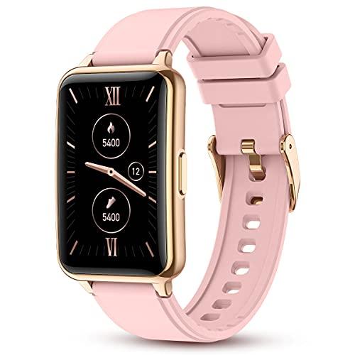 Bluetooth Smartwatch,1.57 Zoll Touch-Farbdisplay Fitness Armbanduhr Tracker Wasserdicht Sportuhr Smart Watch mit Schrittzähler,Kalorien Smart uhr,Stoppuhr, für iOS und Android
